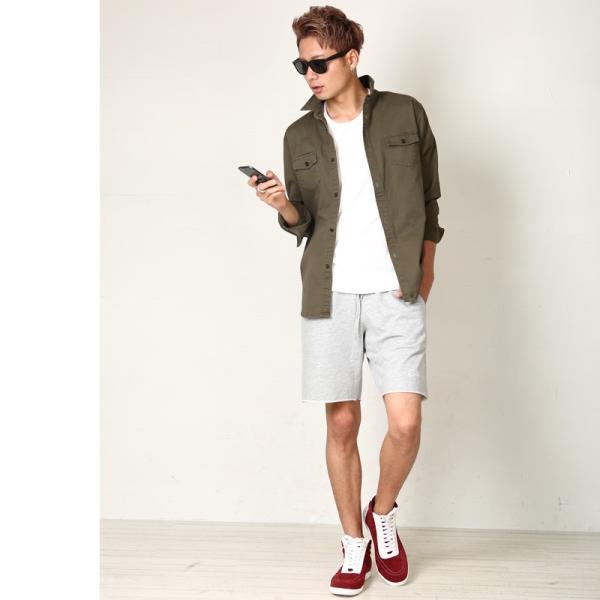 ショートパンツ メンズ スウェット スエット ボトムス カットオフプリント セットアップ カジュアル おしゃれ ファッション|improves|15
