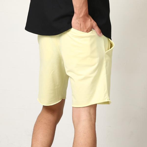 ショートパンツ メンズ スウェット スエット ボトムス カットオフプリント セットアップ カジュアル おしゃれ ファッション|improves|08