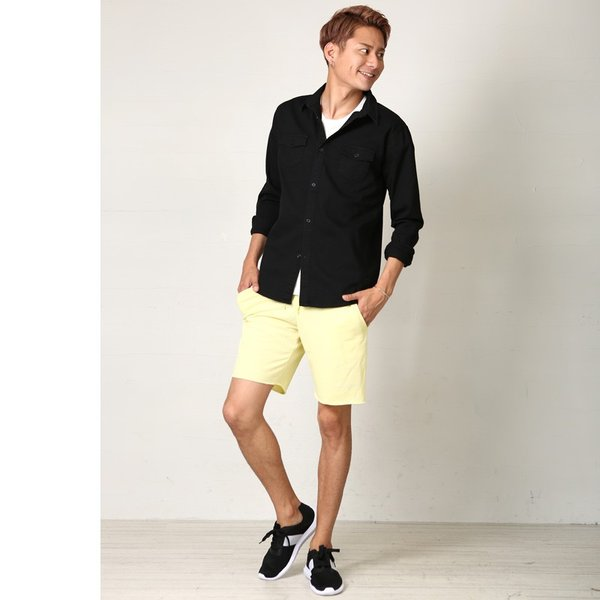 ショートパンツ メンズ スウェット スエット ボトムス カットオフプリント セットアップ カジュアル おしゃれ ファッション|improves|09