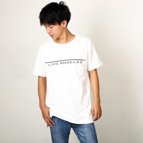 Tシャツ メンズ BIG ビッグシルエット プリント 半袖 トップス クルーネック スリット おしゃれ ファッション|improves|06