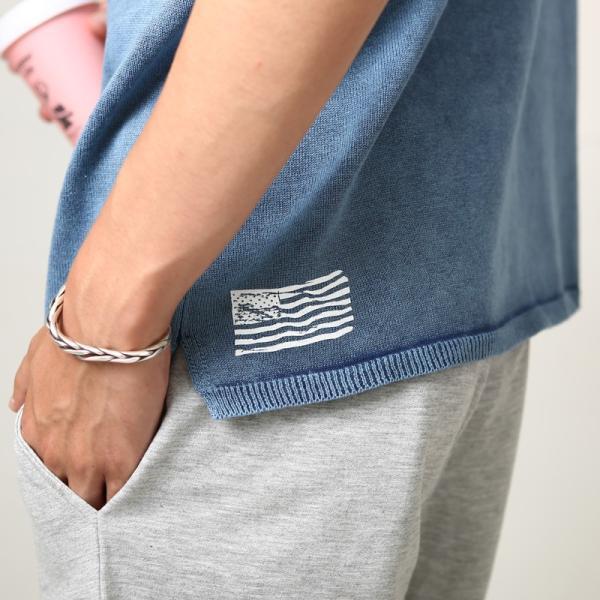 【送料無料】ニット メンズ サマーニット セーター ストーンウォッシュ加工 クルーネック ヴィンテージ 半袖 トップス おしゃれ ファッション improves 10