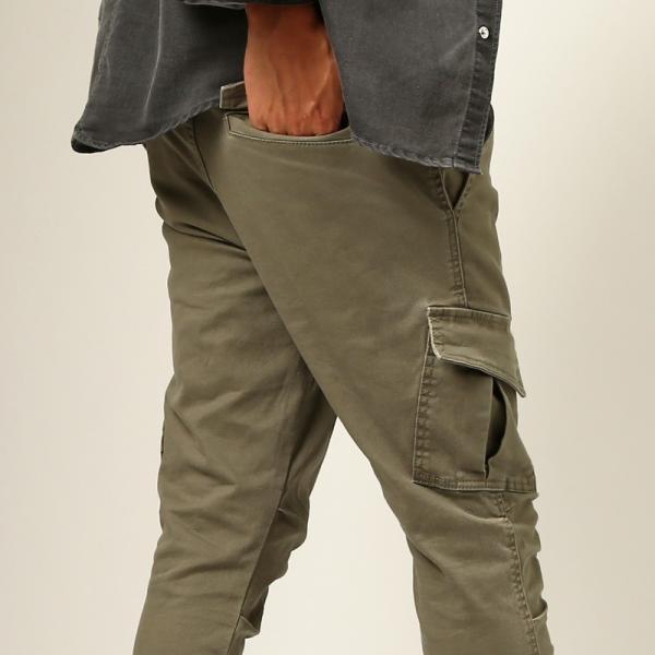 カーゴパンツ メンズ ボトムス ストレート スリム ストレッチ ストーンバイオウォッシュ イージーパンツ クライミングパンツ おしゃれ ファッション|improves|12