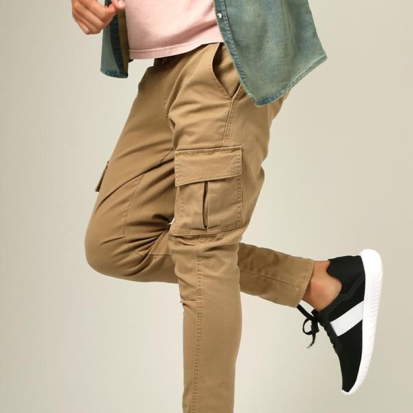 カーゴパンツ メンズ ボトムス ストレート スリム ストレッチ ストーンバイオウォッシュ イージーパンツ クライミングパンツ おしゃれ ファッション|improves|09