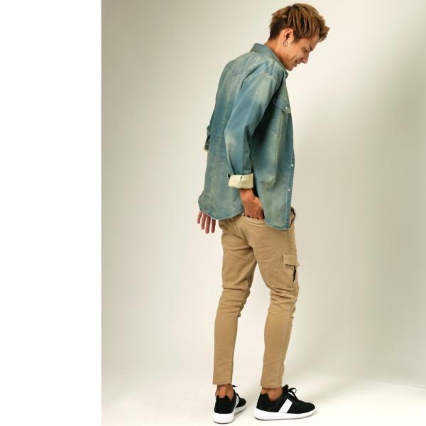 カーゴパンツ メンズ ボトムス ストレート スリム ストレッチ ストーンバイオウォッシュ イージーパンツ クライミングパンツ おしゃれ ファッション|improves|10