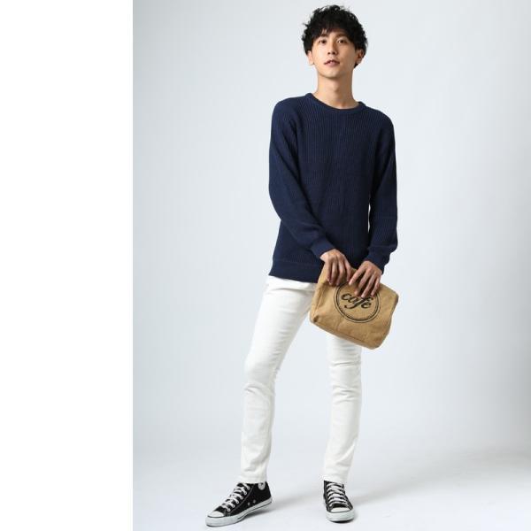 ニット メンズ セーター あぜ編み クルーネックニット Uネック 長袖 あったか 暖かい トップス シンプル カジュアル 大きいサイズ|improves|12
