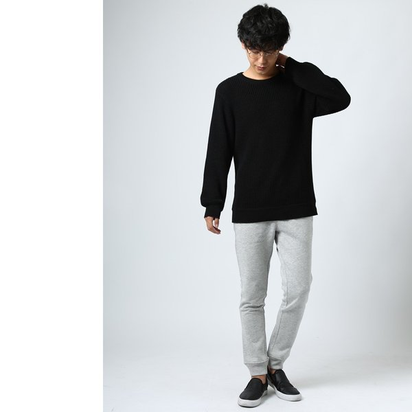 ニット メンズ セーター あぜ編み クルーネックニット Uネック 長袖 あったか 暖かい トップス シンプル カジュアル 大きいサイズ|improves|15