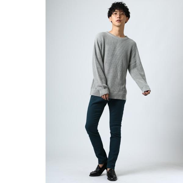 ニット メンズ セーター あぜ編み クルーネックニット Uネック 長袖 あったか 暖かい トップス シンプル カジュアル 大きいサイズ|improves|09