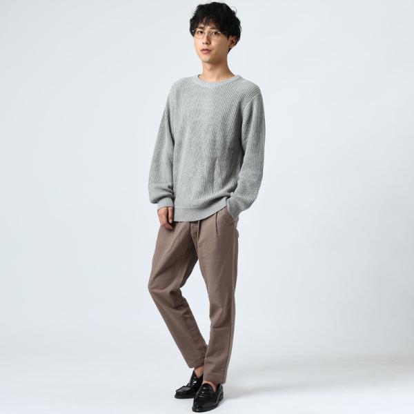 ニット メンズ セーター あぜ編み クルーネックニット Uネック 長袖 あったか 暖かい トップス シンプル カジュアル 大きいサイズ|improves|10