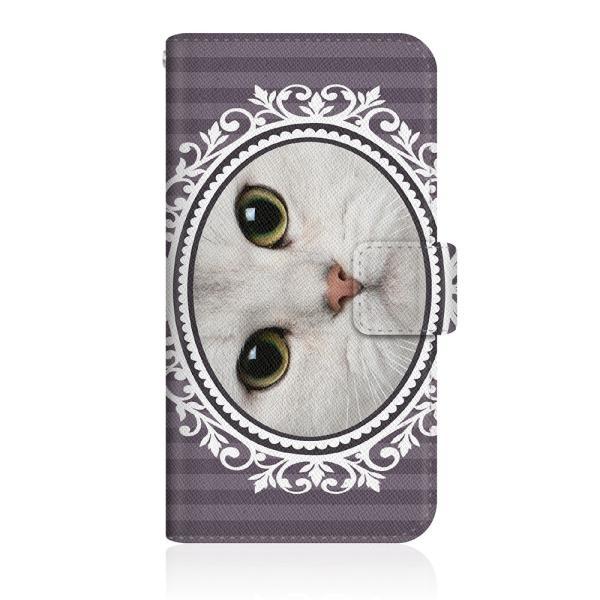 Google Pixel 3a (G020H) オリジナルデザイン 【 NYAGO ノート ボタニカルリース ペロペロだにゃ〜。- 白い猫ちゃん - 】