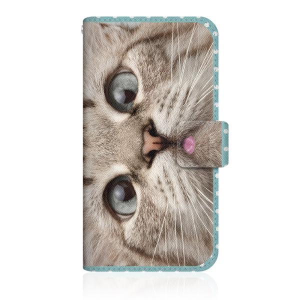 Google Pixel 3a (G020H) 【 NYAGO ノート ナチュラル サマー ドット 猫のはなチュー ペロペロだにゃ〜。- 猫ちゃん顔アップ - ミントブルー 】