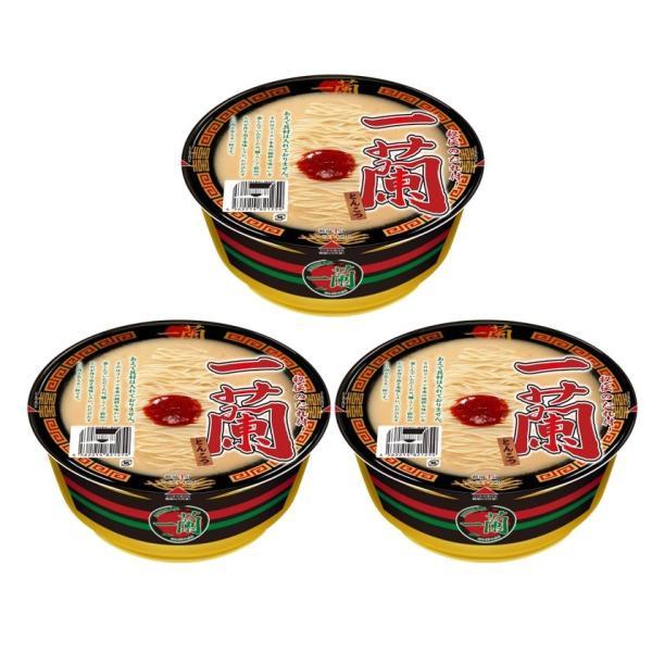 まとめ買い3個セット 一蘭とんこつカップ麺カップラーメン秘伝のたれ付