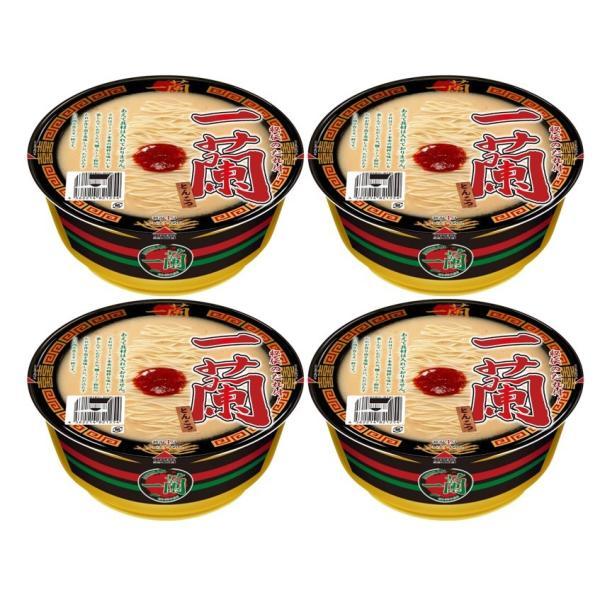 まとめ買い4個セット 一蘭とんこつカップ麺カップラーメン秘伝のたれ付
