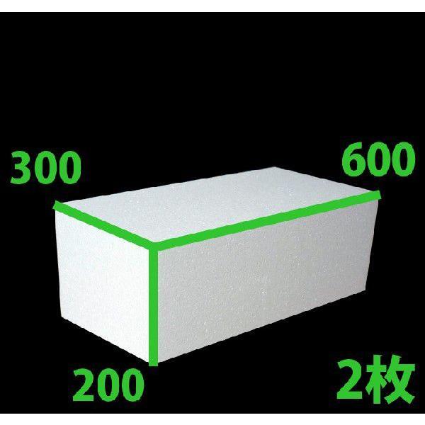 送料無料・発泡スチロール 600×300×200mm 2個