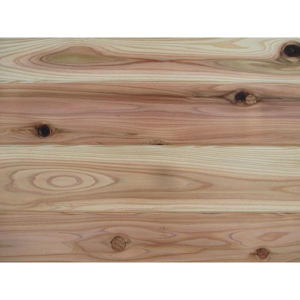 杉(すぎ)外壁用無垢羽目板 節あり 無塗装 プレーナー仕上げ 本実V溝長サネ加工 長さ2900×厚15×巾115ミリ 8枚入