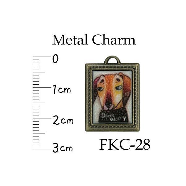 メタルチャーム 犬 イヌ 1ヶ入 FKC-28 アクセサリー ファスナー飾り INAZUMA