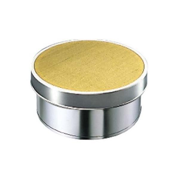 EBM ゴム付ステン枠 裏漉 セット 真鍮張 細目 33cm (替アミ式)(業務用)(送料無料)
