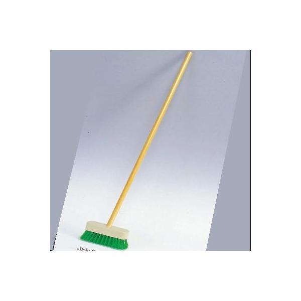 デッキブラシ 木柄 ナイロン 18cm/業務用/新品