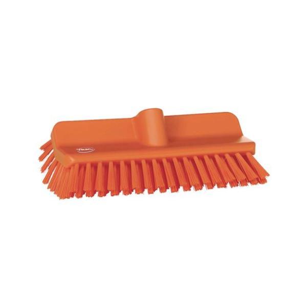 ヴァイカン アングルデッキブラシ ハードタイプ 70477 オレンジ 幅245×奥行145×高さ110(mm)/業務用/新品