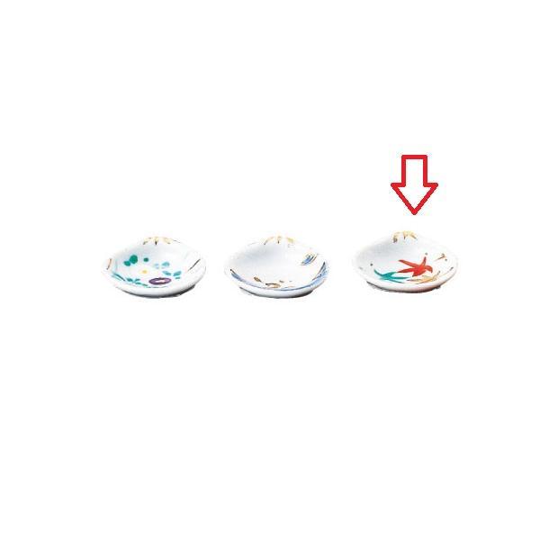 小鉢 貝型ミニ珍味 紅 葉 幅50mm×奥行41mm×高さ18mm/業務用/新品