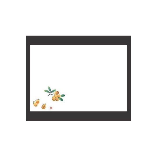 敷紙 尺3寸長手和紙敷マット(100枚単位)びわ(5月〜6月) 幅380 奥行260/業務用/新品