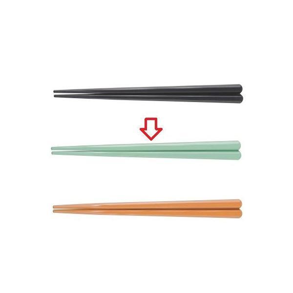 箸 18cm六角先端角箸モスグリーン ホタテ貝抗菌 グリーン 幅8 奥行7 長さ:180/業務用/新品