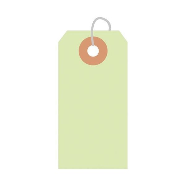 カラー荷札 豆 黄緑 一穴 2000P/2000枚×1箱/業務用/新品