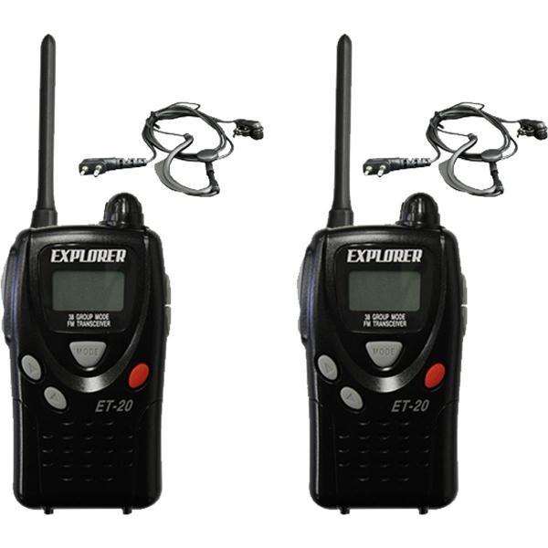 トランシーバー ET-20XG 特定小電力トランシーバー2台セット イヤホンマイク付|incomprocom|02
