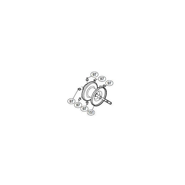 ●シマノ 10オシアカルカッタコンクエストタイプJ200-PG(02787)用 純正標準スプール (パーツ品番105) 【キャンセル及び返品不可商品】 【まとめ送料割】