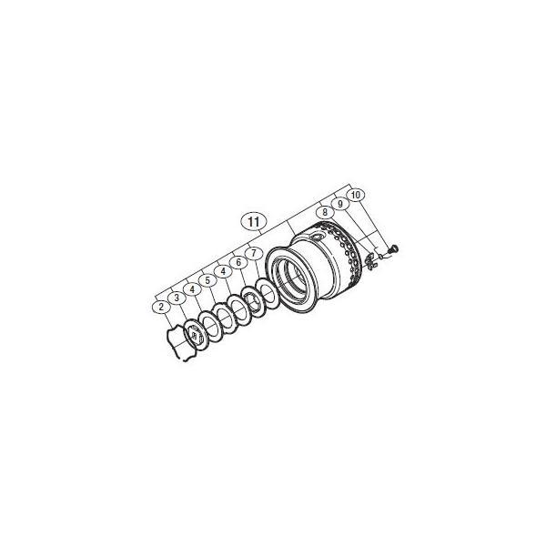 ●シマノ 10 セフィアCI4 C3000HGS (02718)用 純正標準スプール (パーツ品番105) 【キャンセル及び返品不可商品】 【まとめ送料割】