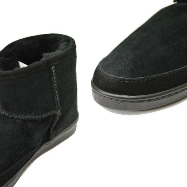 ミネトンカ 3579S BLACK シープスキンブーツ MINNETONKA ANKLE HI PUG BOOT