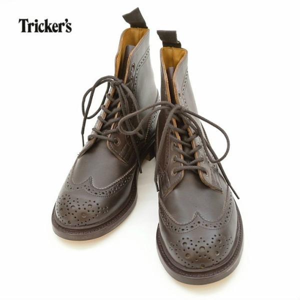トリッカーズ 5180 【レディース】 7ホール WING TIP BOOTS ウイングチップ ブーツ MASTER MC(DARK BROWN) Tricker's