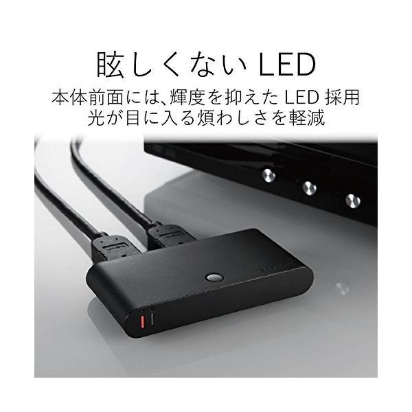 エレコム HDMI切替器 自動切替機能 【PS3/PS4/Nintendo Switch動作確認済み】 2入力1出力 HDMIケーブル付属(1m) DH-SW21BK/E
