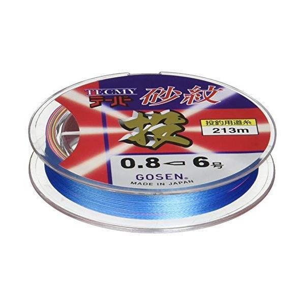 ゴーセン(GOSEN) ライン テクミーテーパー砂紋 4色分け 213m 4色分け 0.8-6 GT6224