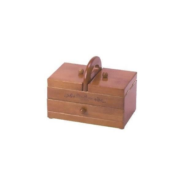 木製手芸裁縫箱 ソーイングボックス406 202-406|infomart