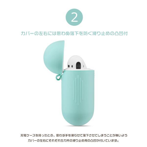 AirPods case アップル イヤホン カバー 衝撃吸収 シリコン 柔軟 可愛い おしゃれ AirPodsケース かわいい AirPodsカバー シリコン AirPods シリコン保護ケース|initial-k|05