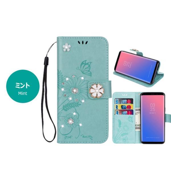 スマホケース Galaxy S9ケース 手帳型 ギャラクシーS9カバー 手帳 ギャラクシーS9+ カバー 花柄 蝶柄 Galaxy S9 Plusケース 皮 革 手帳 S9+ケース かわいい|initial-k|13