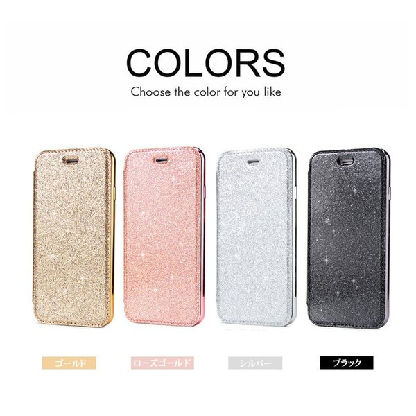 iphone8ケース iphone7ケース 手帳型 背面 クリア 透明 少女 可愛い キラキラ  IPHONE 7 アイフォン8プラス手帳ケース カラフル きらきら耐衝撃 スマホケース|initial-k|06