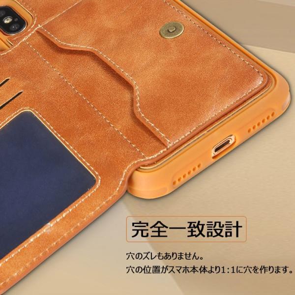 スマホケース iPhoneXケース 背面保護 iPhone8ケース カード収納 iPhone7 背面保護ケース高級 耐衝撃iPhone8 Plusケース 人気 iPhone6s Plus背面ケー|initial-k|04