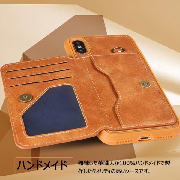 スマホケース iPhoneXケース 背面保護 iPhone8ケース カード収納 iPhone7 背面保護ケース高級 耐衝撃iPhone8 Plusケース 人気 iPhone6s Plus背面ケー|initial-k|05