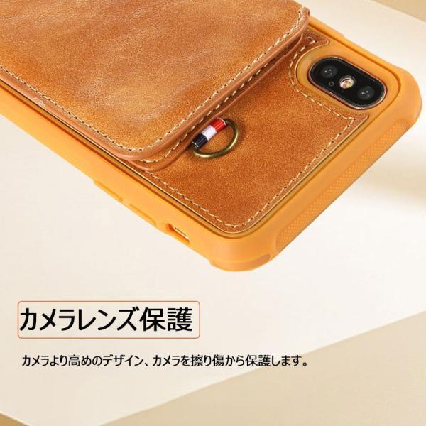 スマホケース iPhoneXケース 背面保護 iPhone8ケース カード収納 iPhone7 背面保護ケース高級 耐衝撃iPhone8 Plusケース 人気 iPhone6s Plus背面ケー|initial-k|06