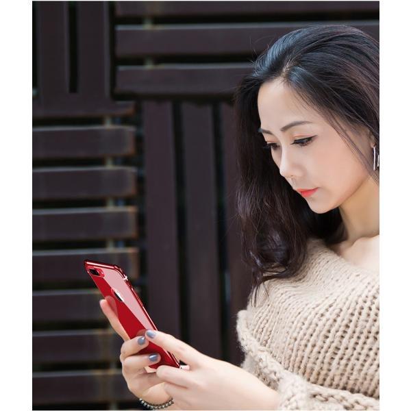 スマホケース iPhone8 Plusケースカバー 傷つけ防止 iPhone8 背面強化ガラス 背面 指紋防止 バンパー iPhone7/7 Plusケース バンパー耐衝撃 軽量 防塵|initial-k|04