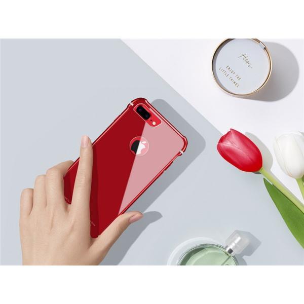 スマホケース iPhone8 Plusケースカバー 傷つけ防止 iPhone8 背面強化ガラス 背面 指紋防止 バンパー iPhone7/7 Plusケース バンパー耐衝撃 軽量 防塵|initial-k|06