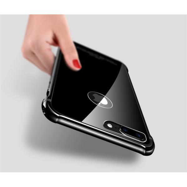 スマホケース iPhone8 Plusケースカバー 傷つけ防止 iPhone8 背面強化ガラス 背面 指紋防止 バンパー iPhone7/7 Plusケース バンパー耐衝撃 軽量 防塵|initial-k|07