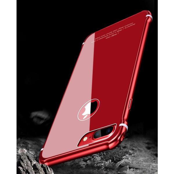 スマホケース iPhone8 Plusケースカバー 傷つけ防止 iPhone8 背面強化ガラス 背面 指紋防止 バンパー iPhone7/7 Plusケース バンパー耐衝撃 軽量 防塵|initial-k|08
