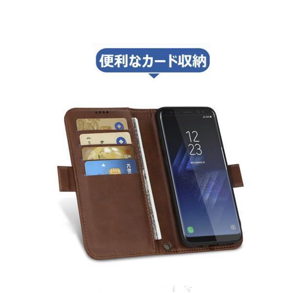 ギャラクシー S8 S8+手帳型 カバー 磁石軽量 カード収納 GALAXY S8 S8+ 手帳ケース 磁石 分離式  galaxy s8 s8+  手帳型ケース 財布カバー 分離式|initial-k|02