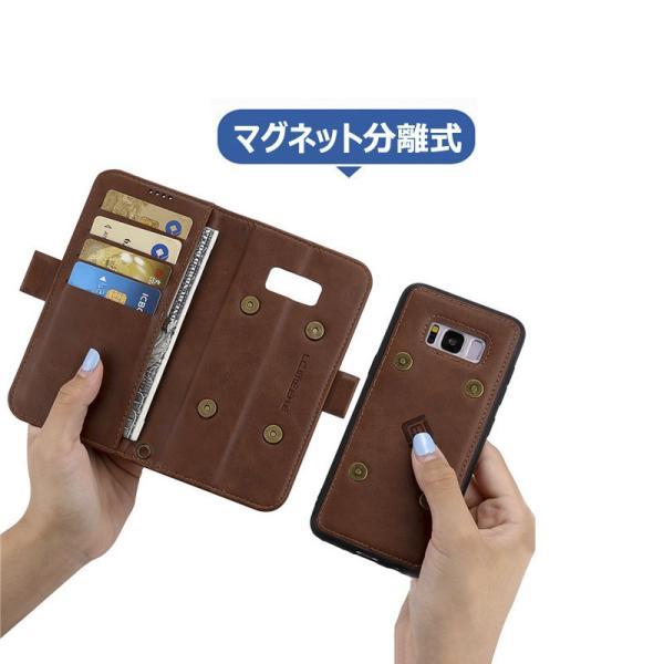 ギャラクシー S8 S8+手帳型 カバー 磁石軽量 カード収納 GALAXY S8 S8+ 手帳ケース 磁石 分離式  galaxy s8 s8+  手帳型ケース 財布カバー 分離式|initial-k|06