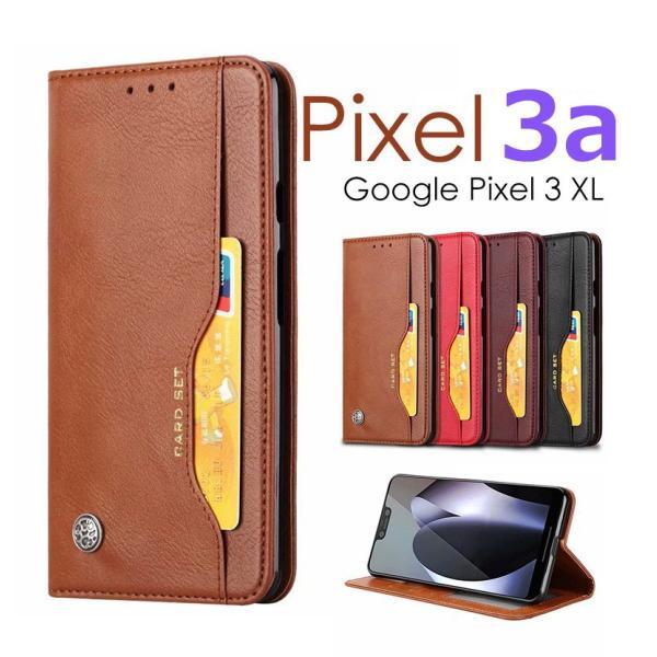 グーグルピクセル3A ケース Google Pixel 3a手帳型ケース レザー 高級感 Google Pixel 3 カード収納 Google Pixel 3a XL手帳型ケース|initial-k