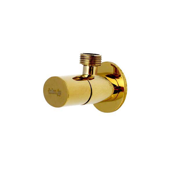 アングル止水栓(壁給水・おしゃれ・楕円)金・ゴールド INK-0304014G|ink-co