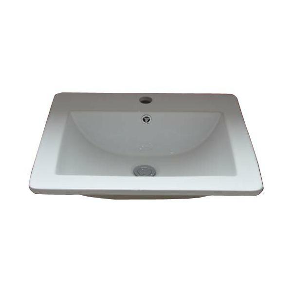 RoomClip商品情報 - 陶器洗面ボウル(手洗い鉢・陶器洗面ボール・洗面台・埋め込み)W535×D455×H185 INK-0402005H