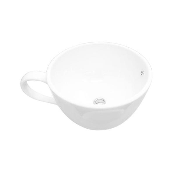 洗面ボウル コーヒーカップ-大-(陶器手洗い鉢・おしゃれ手洗器・オンカウンター)W535×D410×H250 INK-0403003G ink-co